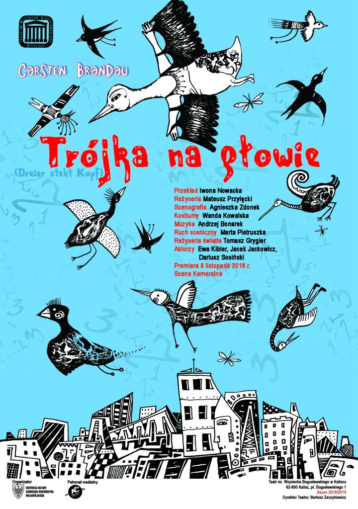 """Spektakl """"Trójka na głowie"""" @ pl. Bogusławskiego 1"""