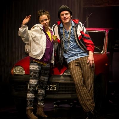 Zdjęcie ze spektaklu Dwoje biednych Rumunów mówiących po polsku